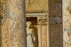 Alte antike Stadt von Efes, Ephesus-Ruinen Lizenzfreie Stockfotos