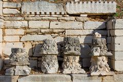 Alte antike Stadt von Efes-Ruine in der Türkei Lizenzfreie Stockbilder