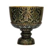 Alte antike Weinlese Shellschüssel Stockbilder