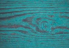 Alte Aquamarinfarbe des hölzernen Brettes Lizenzfreies Stockfoto