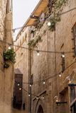 Alte arabische Stadtstraße Stockbild