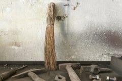 Alte Arbeitshilfsmittel Stockfotografie