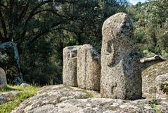 Alte archäologische Fundstätte von Filitosa, Korsika (Frankreich) Lizenzfreies Stockbild