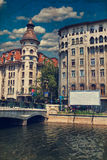 Alte Architektur Bukarests Stockfoto
