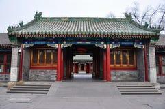 Alte Architektur Chinas im Hinterhof Lizenzfreies Stockfoto