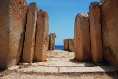 Alte Architektur der alten Mittelmeerkultur Lizenzfreies Stockbild