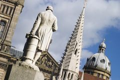 Alte Architektur in der Mitte von Birmingham lizenzfreies stockbild