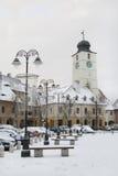 Alte Architektur in der Stadt Sibiu Stockfotografie