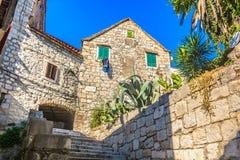 Alte Architektur in der Stadtspalte, Kroatien stockbild