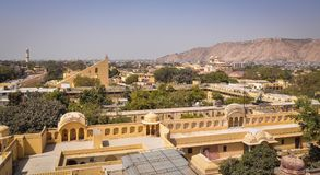 Alte Architektur in Jaipur, Indien Stockfotos