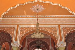 Alte Architektur in Jaipur, Indien Stockbild