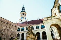 Alte Architektur Loreto Pragues in der Tschechischen Republik Stockbild