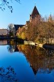 Alte Architektur und der Pegnitz-Fluss Lizenzfreie Stockbilder