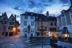Alte Architektur von Auxerre Stockfotografie