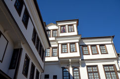 Alte Architektur von Ohrid, Macedona stockfotografie