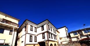 Alte Architektur von Ohrid, Macedona stockfotos