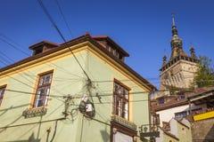 Alte Architektur von Sighisoara lizenzfreies stockbild