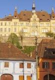 Alte Architektur von Sighisoara stockbild
