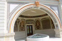 Alte Architekturart in Budapest lizenzfreie stockbilder