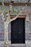 Alte Architekturtür und Phoenix-Baum Stockbilder