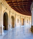Alte Arena im Alhambra-Palast in Spanien Stockfotografie