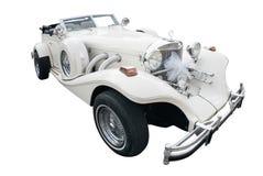 Alte Art des weißen Autos Lizenzfreie Stockbilder