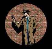 Alte Art Detektiv, wie von die Fünfzigerjahre. Lizenzfreie Stockbilder