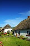 Alte Art-irischer Häuschen Adare Co. Limerick Lizenzfreie Stockfotos