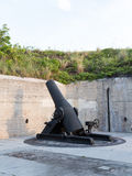 Alte Artillerie schießt bei Fort de Soto Florida lizenzfreies stockfoto