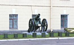 Alte Artilleriekanone Lizenzfreie Stockbilder