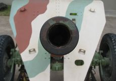 Alte Artilleriekanone Lizenzfreies Stockfoto