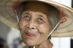 Alte asiatische Frauen Lizenzfreies Stockfoto