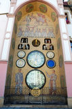 Alte astronomische Borduhr in Olomouc, Tschechische Republik Stockfotografie