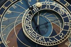 Alte astronomische Borduhr in Prag Lizenzfreies Stockbild
