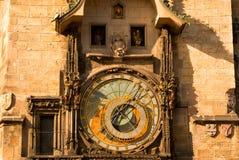 Alte astronomische Uhr Lizenzfreie Stockfotos