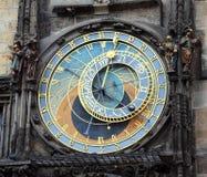 Alte astronomische Uhr Prags im Ziffernblatt dort sind Th Stockbild