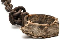 Alte aufgefüllte Fuß- oder Halsstulpe Stockfoto
