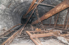 Alte aufgegebene Grube Stockbild