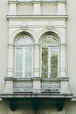 Alte aufwändige Balkone Lizenzfreie Stockfotos