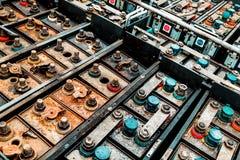Alte austauschbare Batterie lizenzfreie stockfotos