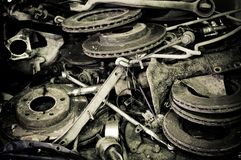 Alte Automobilteile Lizenzfreies Stockbild