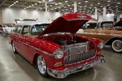 Alte Autos auf Automobilausstellung Lizenzfreies Stockbild