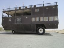 Alte Autos am Automuseum in Abu Dhabi Stockfotos