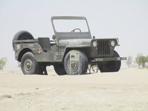 Alte Autos am Automuseum in Abu Dhabi Lizenzfreie Stockfotografie