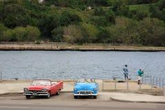 Alte Autos in Kuba Stockbild