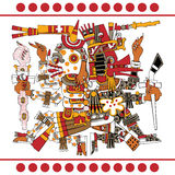 Alte aztekische Götter Lizenzfreie Stockfotos