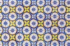 Alte azulejos - handgemalte Fliesen von Lissabon Lizenzfreies Stockfoto