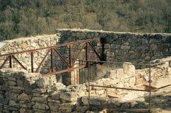 Alte Bäder von Bagno Vignoni lizenzfreie stockbilder