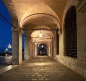 Alte Bögen von Doge ` s Palast-St. Marc Square in Venedig, Italien Stockbild