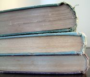 3 alte Bücher lizenzfreie stockbilder